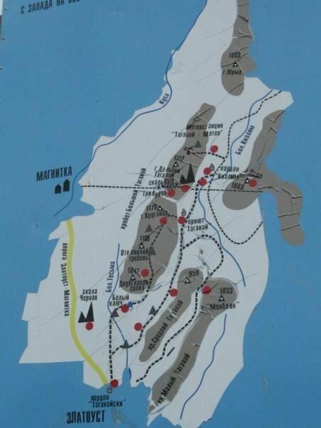 Схема парка Таганай (14.05.2013)