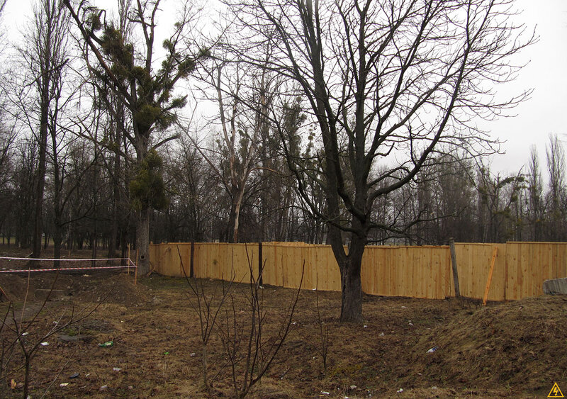 Стройка в Тарасовском парке