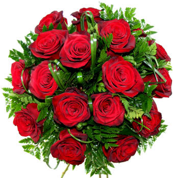 Букет бордових троянд