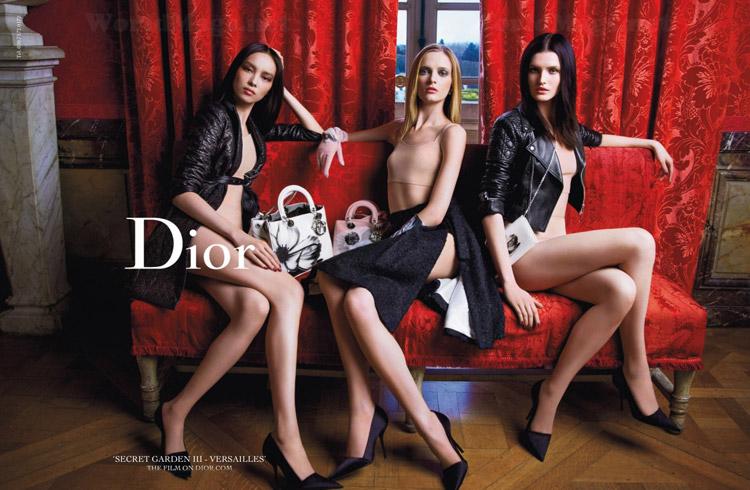 Дарья Строкоус (Daria Strokous), Фей Фей Сун и Кэтлин Аас (Katlin Aas) для Dior