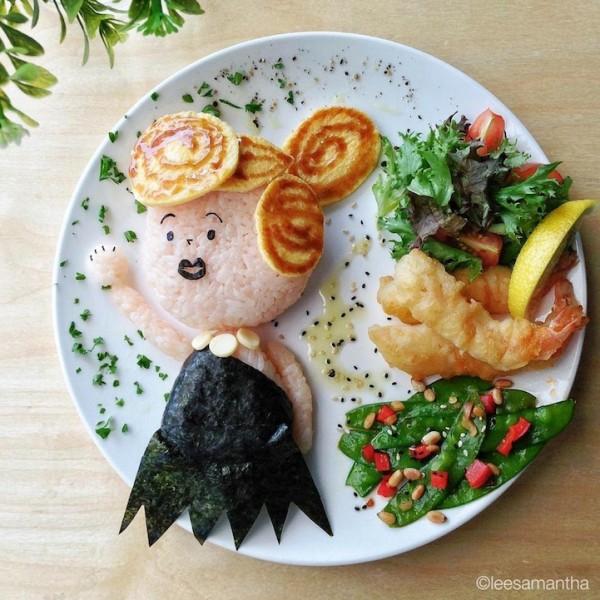 Кулинарные рисунки знаменитых персонажей