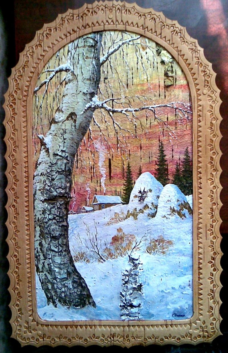 0 b6015 8d74a4af orig  Пейзажи на бересте художника Сергея Зинина