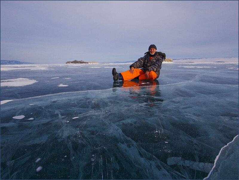 На льду Байкала