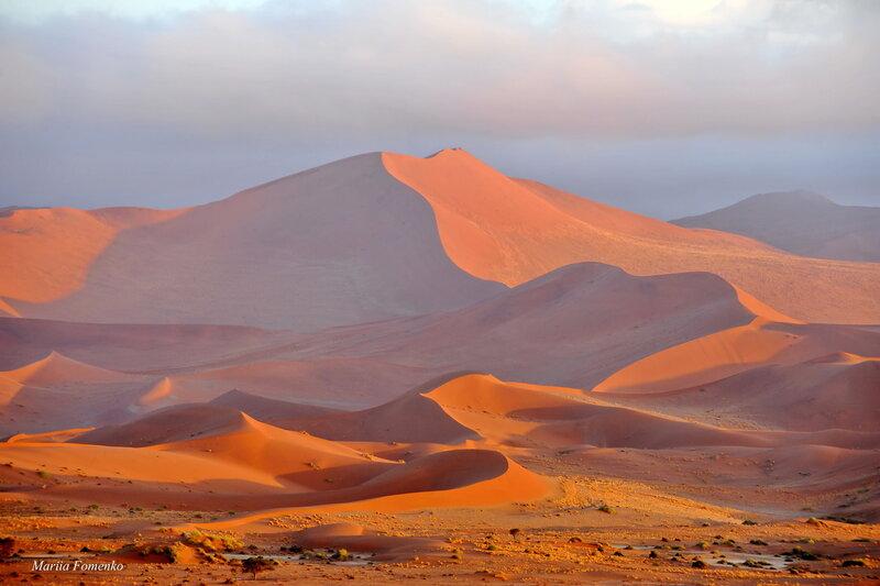 Намибия. Песчаные дюны в Сосусвлей (Sossusvlei)
