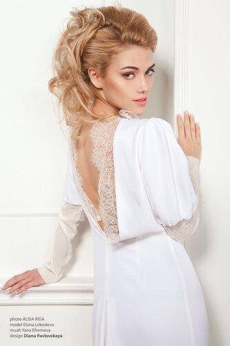 свадебное платье с открытой спинкой- Диана Павловская