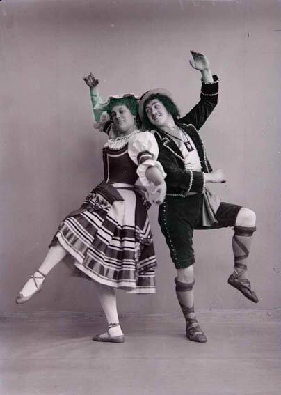 Артисты балета Мария Петипа и Сергей Легат. 1898 г. Фотограф не установлен. РГАКФД. 4-5810.