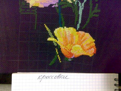 Схема вышивки калифорнийский мак риолис 44