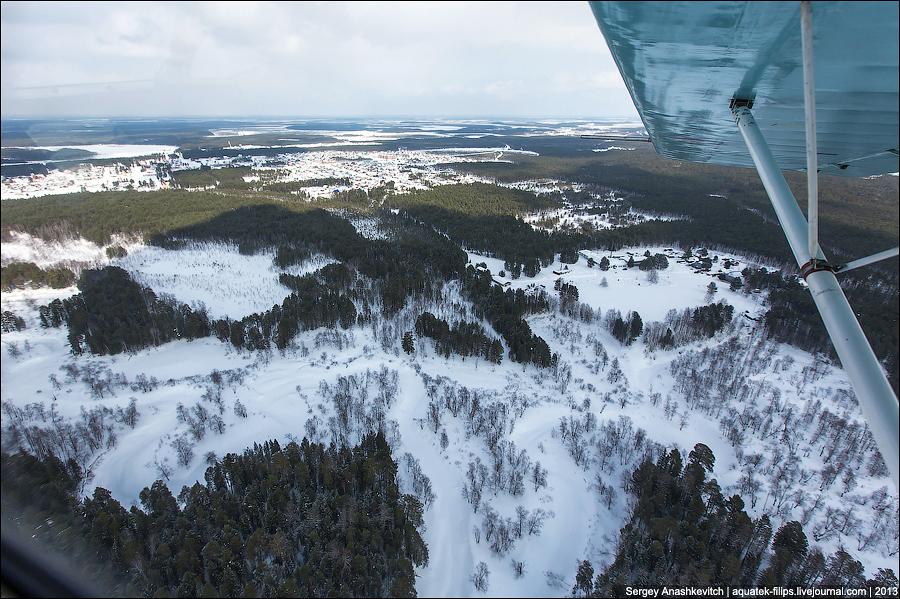 Полет на А-27 над Юганской тайгой