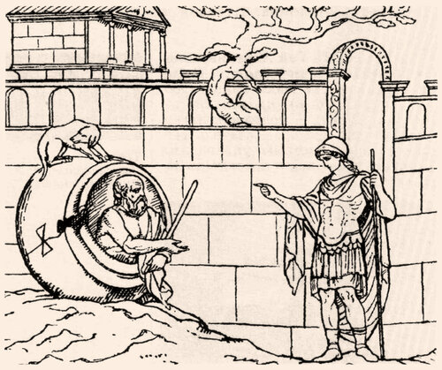 Диоген и Александр