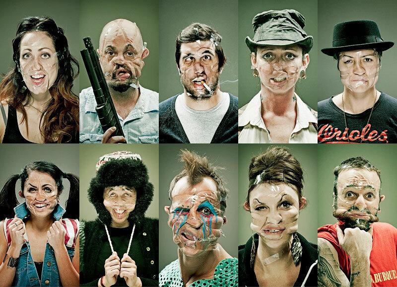 Смешные лица в фотопроекте Скотч