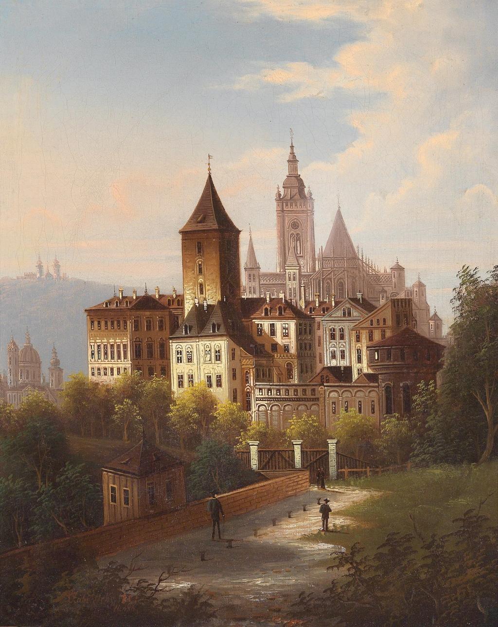 J. Wilhelm Jankowsky(1825-1870) zugeschrieben/attributed Motiv aus Sevilla