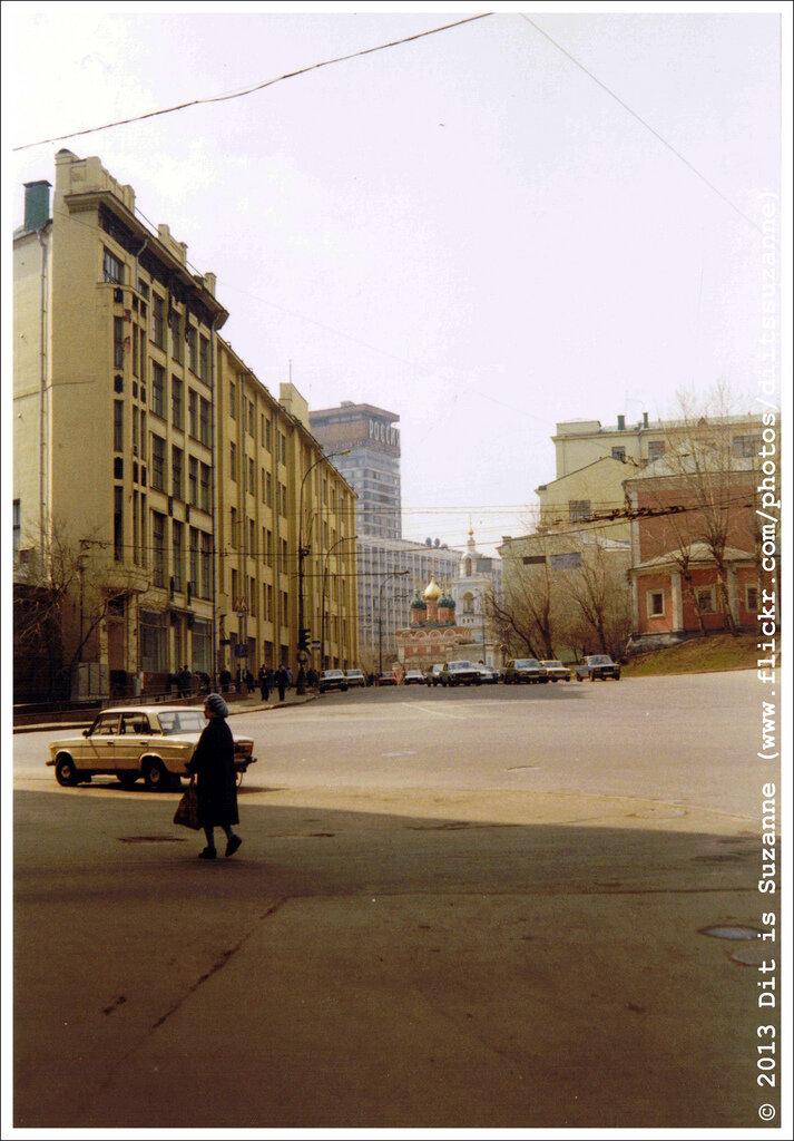 Москва, апрель 1993г. Вид на гостиницу Россия