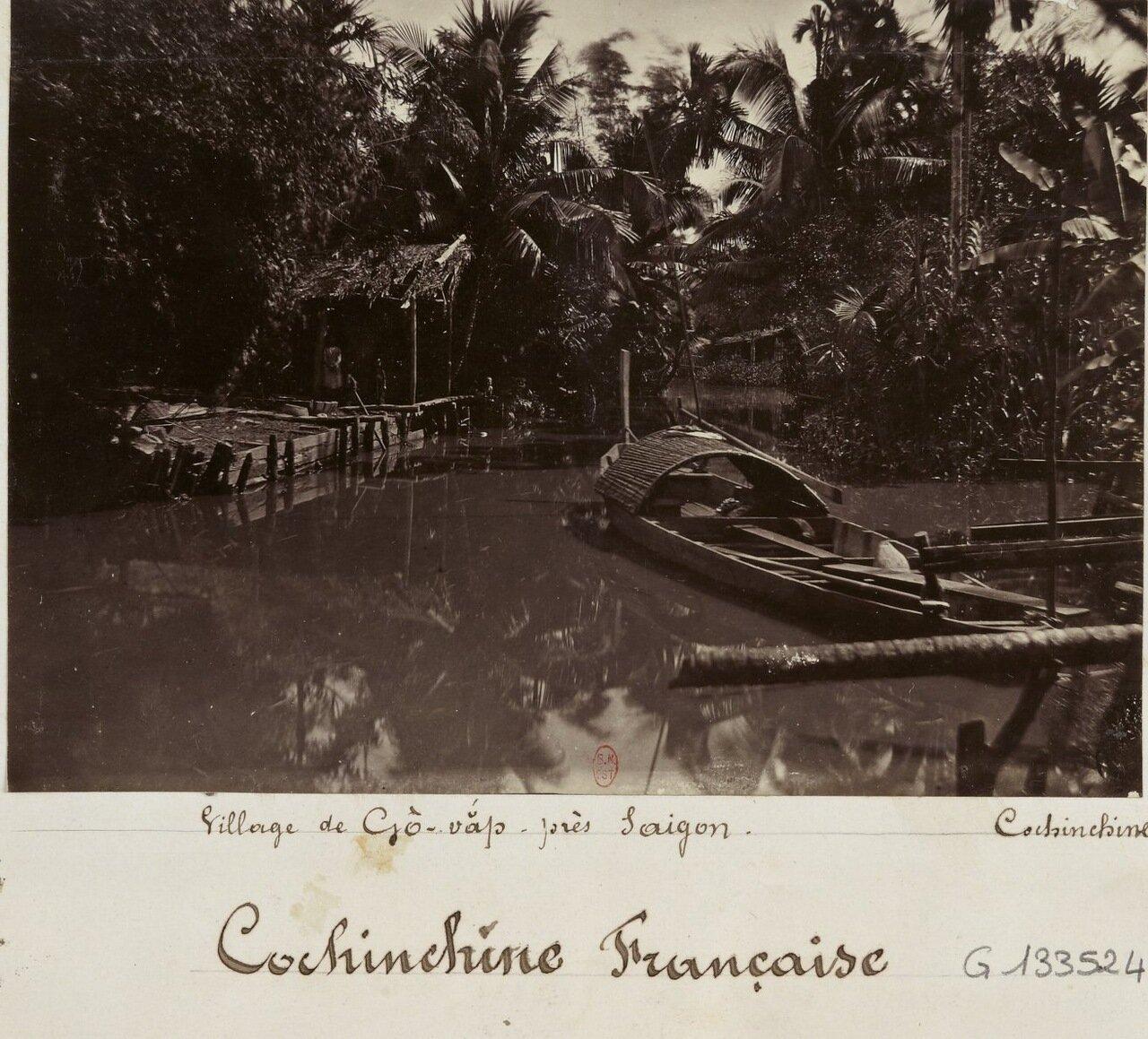 Французская Кохинхина. Деревня на реке Сайгон