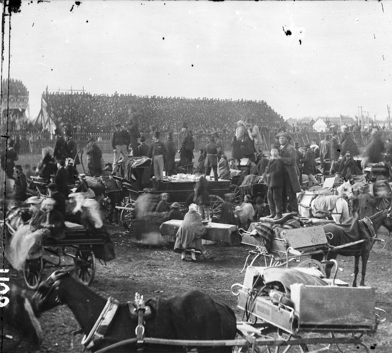 На скачках 1868.