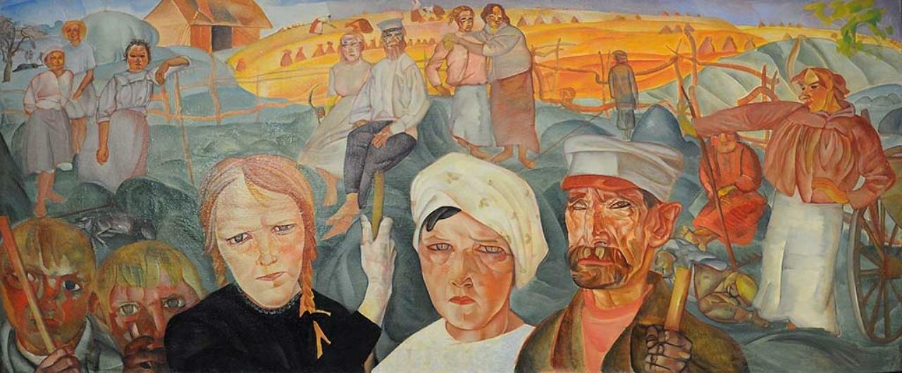 Земля крестьянская, 1917, Григорьев Борис Дмитриевич (1886-1939)