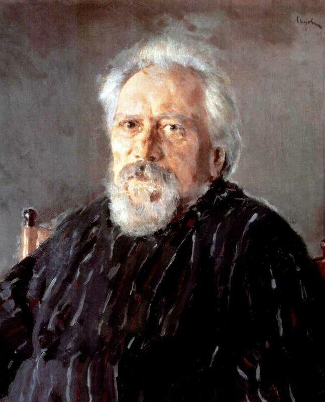 В. Серов. Портрет писателя Н.С.Лескова. 1894 г. (1831 — 1895)