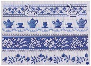 Орнамент для вышивки крестом скатерти