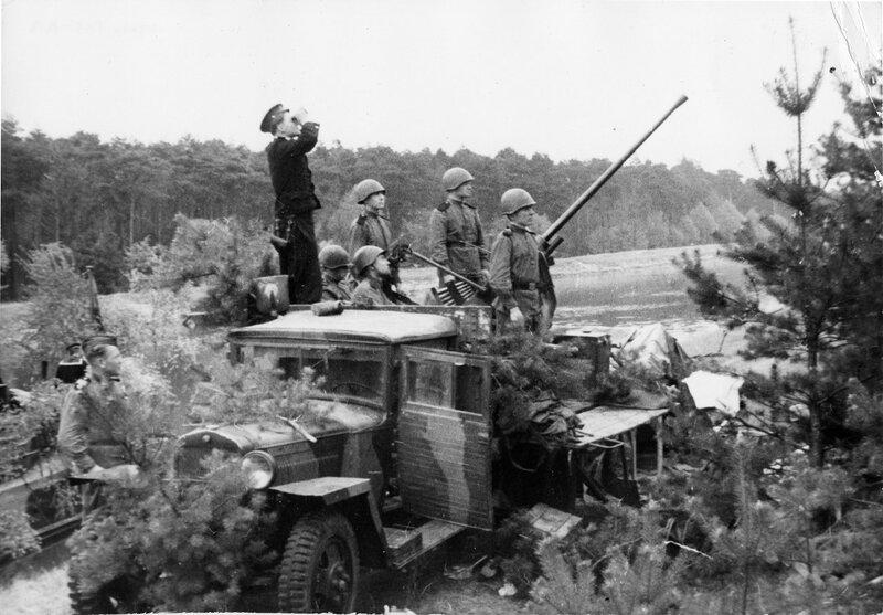 Расчет зенитного автомата 72-К Балтийского флота. Район Выборга, 1944 г.