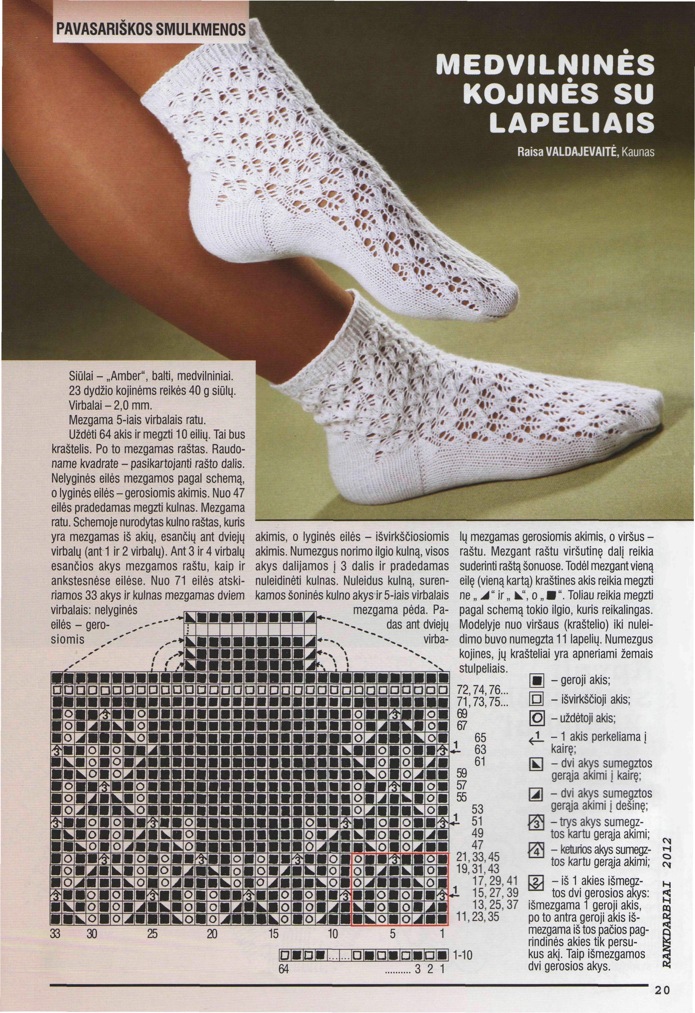 Ажурные схемы для носок