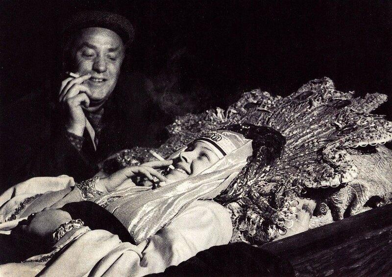 Съемки фильма Иван Грозный, Москва, 1944 год