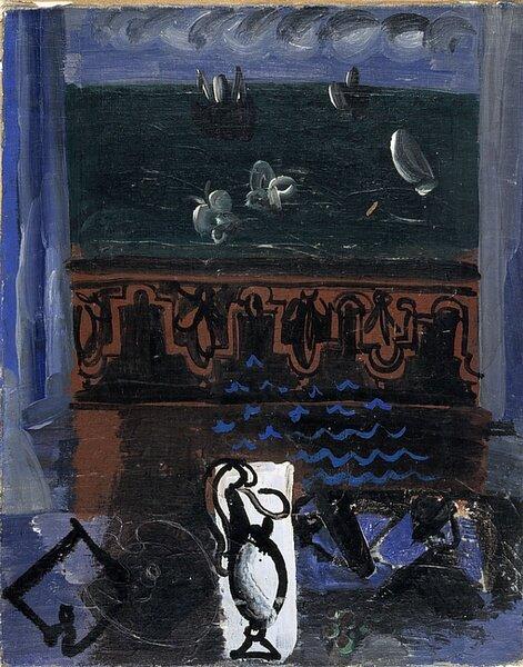Рауль Дюфи. Окно на море. 1920-22. Центр Помпиду.jpg