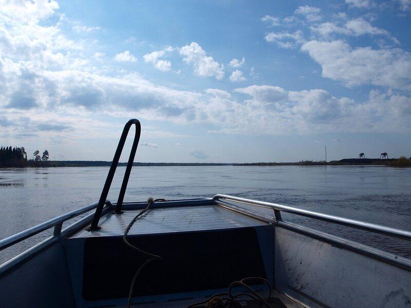 На лодке по разлившейся Вятке P4260919
