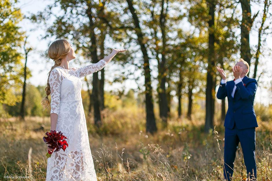 Свадебная фотосессия осенью в Нижнем Новгороде