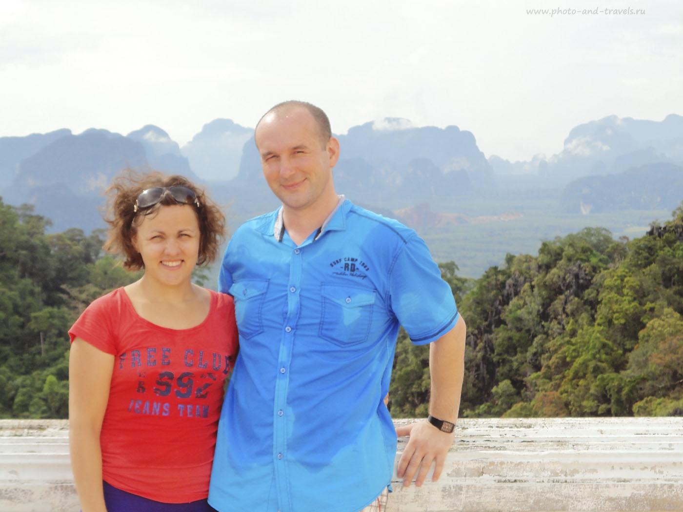 Фото 6. На вершине горы Тигрового Храма (Tiger Cave Temple или Wat Tham Sua). Из нашей группы никто больше не захотел подниматься, поэтому гид выделил только 1 час на восхождение и спуск. Это очень мало и очень трудно. В 2015 году мы поднимались здесь снова, но самостоятельно и не спешили. Отзывы об отдыхе в Тайланде.