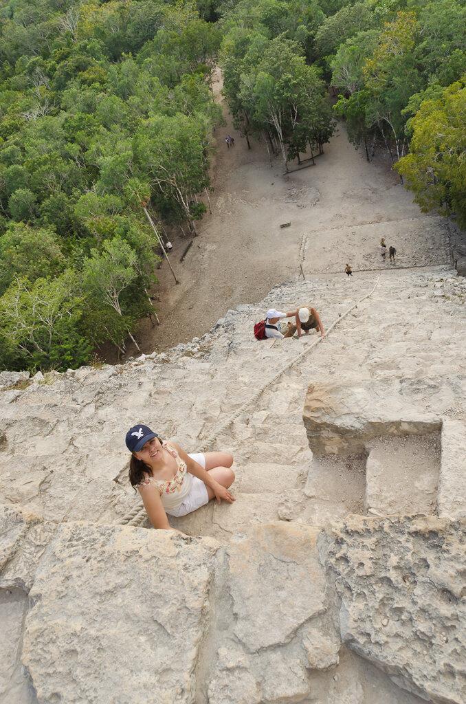 Фотография 14. Отдых в Мексике. Подъем на пирамиду майя Ixmoja в Кобе (Coba).