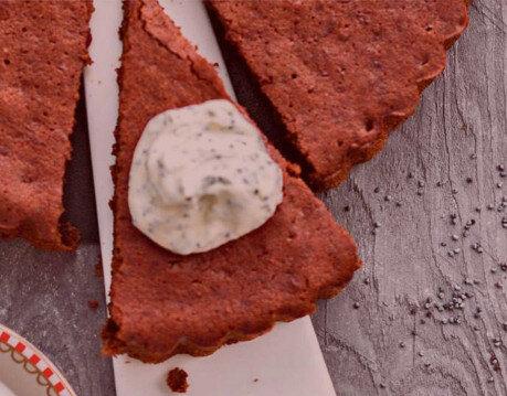 Влажный шоколадно-свекольный пирог с маком