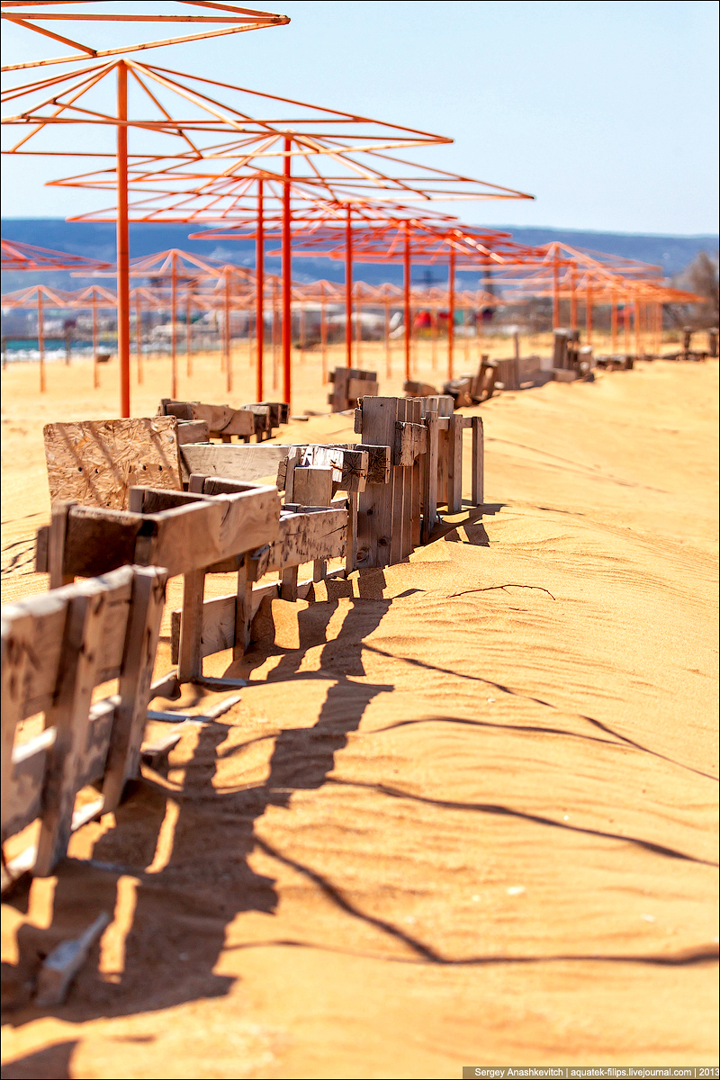 Весна на пляжах Феодосии