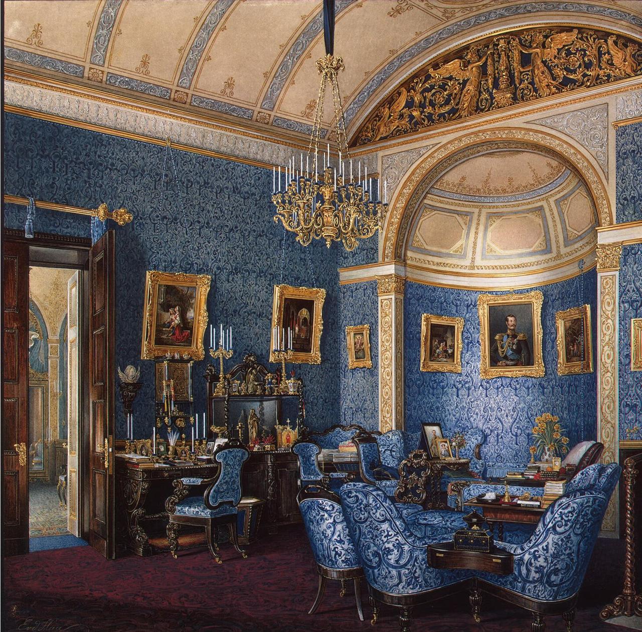 Интерьеры Зимнего дворца. Будуар великой княгини Марии Александровны