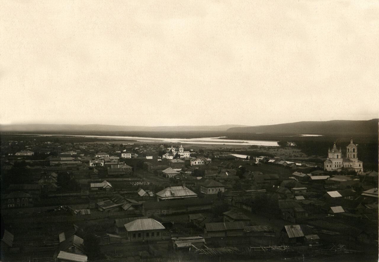 Вид г. Кузнецка с Крепостной горы н. XX века