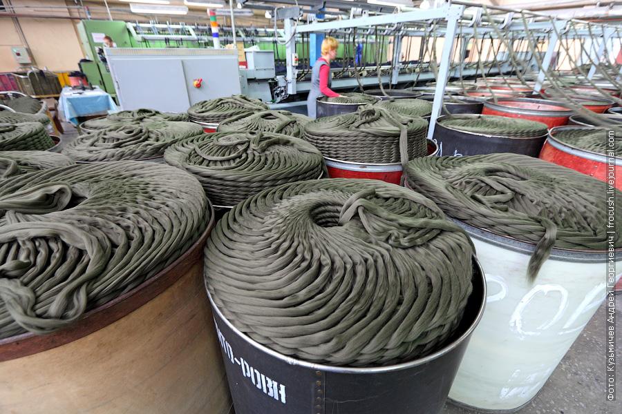 изготовление ровницы на камвольном комбинате