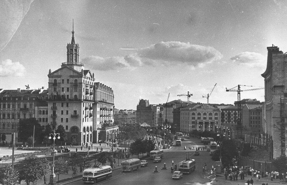 1954.07.31. Панорама Хрещатика