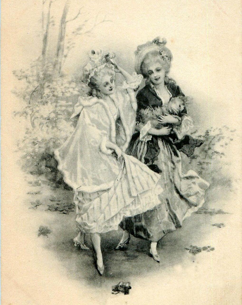 Раневская, старинные открытки франции