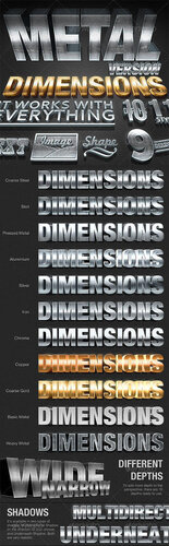 Dimensions Metal Version - 3D Generator Action - GraphicRiver 0_c9565_cf7aa7f6_L