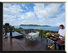 Сейшелы. О.Праслин. Raffles Praslin Seychelles. In-villa_BBQ_Dinner