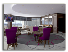 ОАЭ. Дубаи. Le Meridien Mina Seyahi Beach Resort & Marina. Club Lounge - rendering