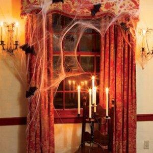 Декор шторы на Хеллоуин