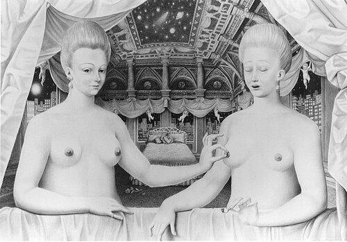 Интерпретация картины с голыми моющимеся сёстрами