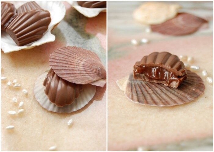 конфеты с ореховым пралине