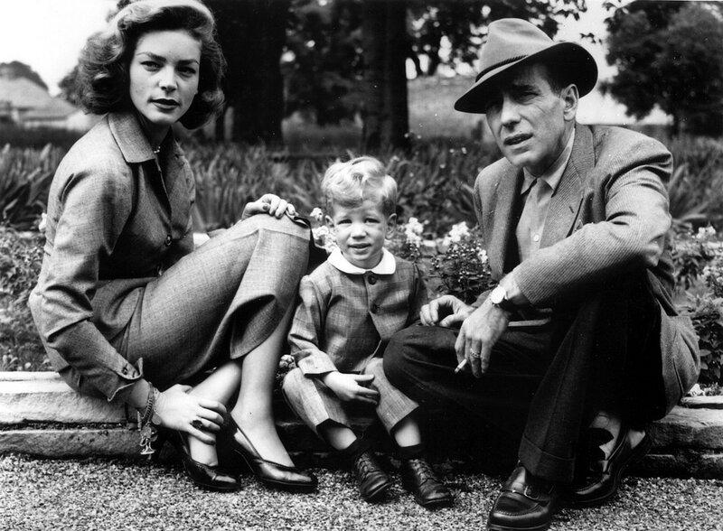 Lauren BACALL, Humphrey BOGART und Sohn Stephen