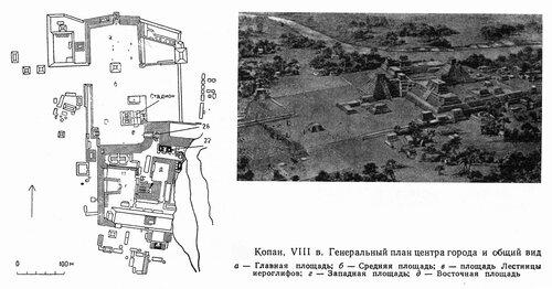 Копан, генеральный план центра города