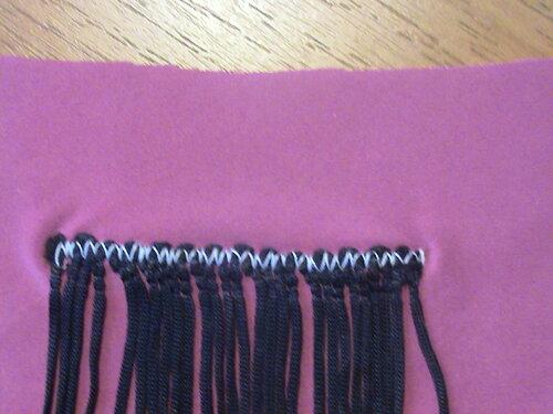 Как пришивать бахрому на платье