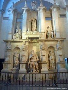 Папская гробница, работа Микеланджело.