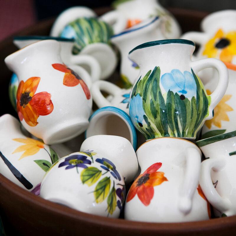 color mugs on russian flea market for sale