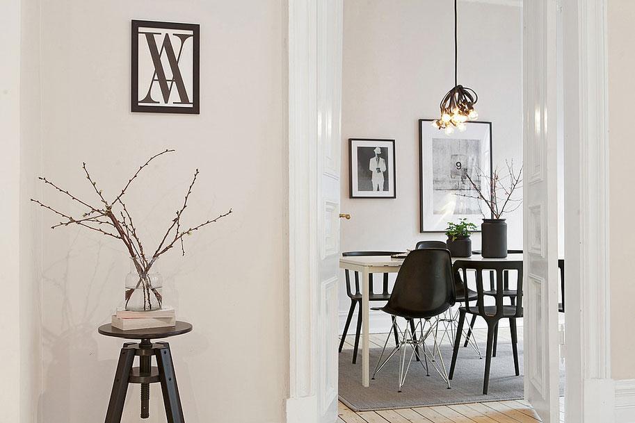 Скандинавский стиль интерьера квартиры в Гетеборге