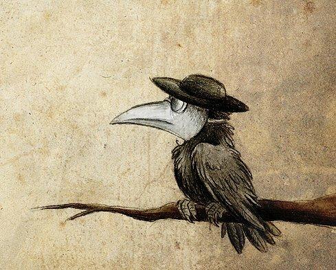 маска птицы