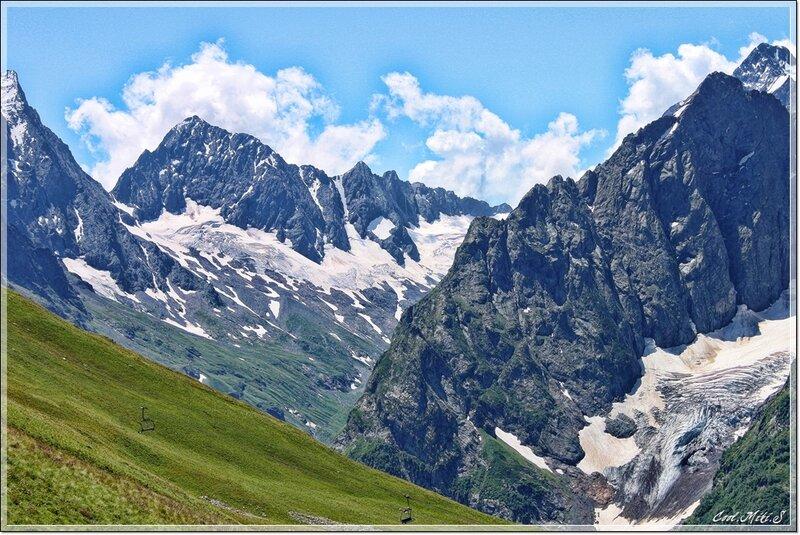Домбайские ледники.